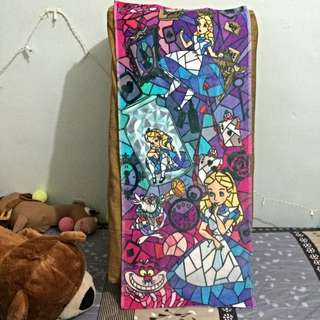 超美 迪士尼 愛麗絲夢遊仙境毛巾 妙妙貓  柴郡貓