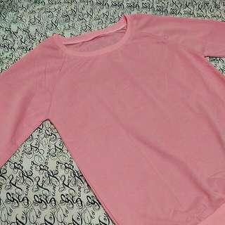 粉紅色薄長袖