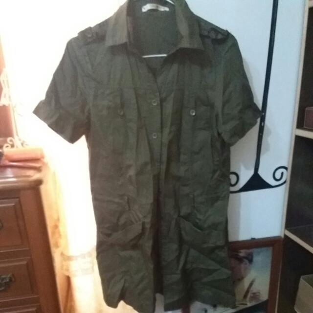 短袖軍襯衫