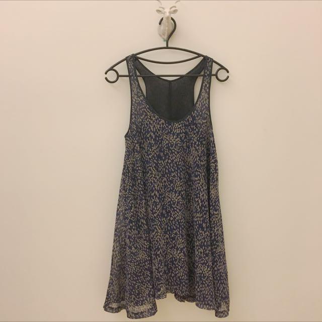 (轉售)雪紡背心寬鬆顯瘦裙