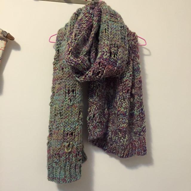 冬季出清 粗毛線圍巾