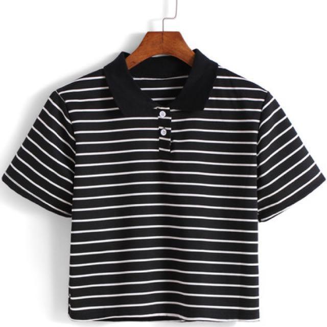 Black T-shirt Crop