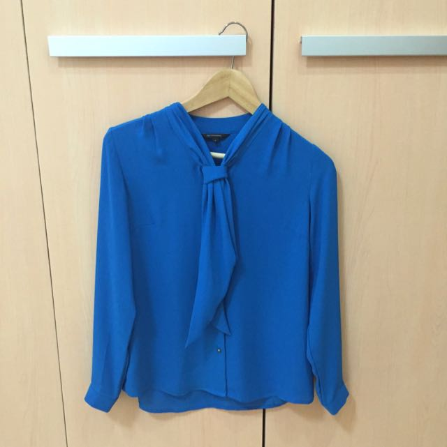 The Executive Blue Office Blouse