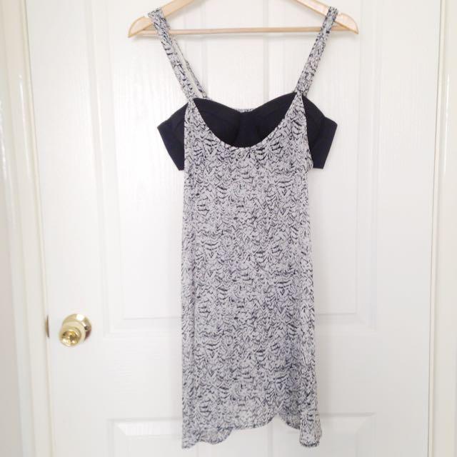 B&W Dress W Crop