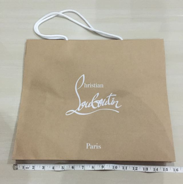 d8924a28063 Christian Louboutin Paper Bag, Women's Fashion on Carousell