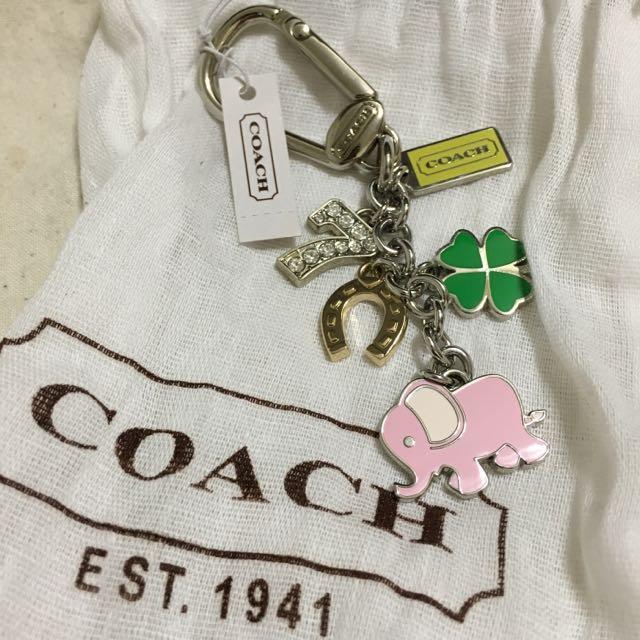全新COACH鑰匙圈 含運350