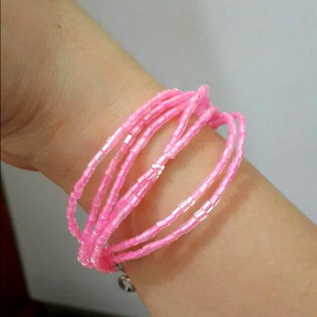 Gelang pink girly