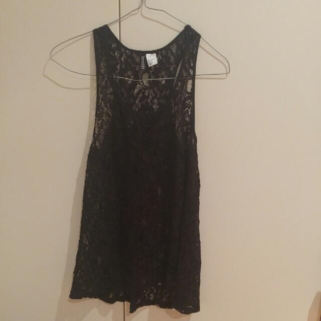 Lace Tank Top H&M Size 8-10