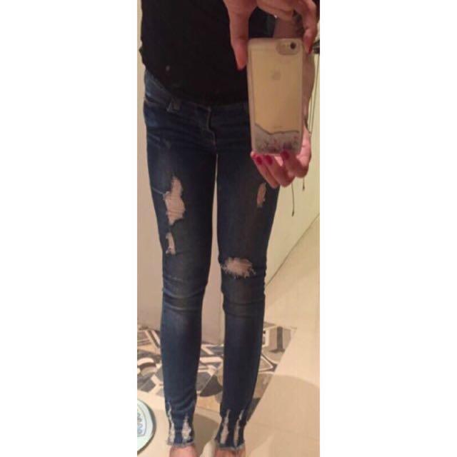 韓組牛仔褲M