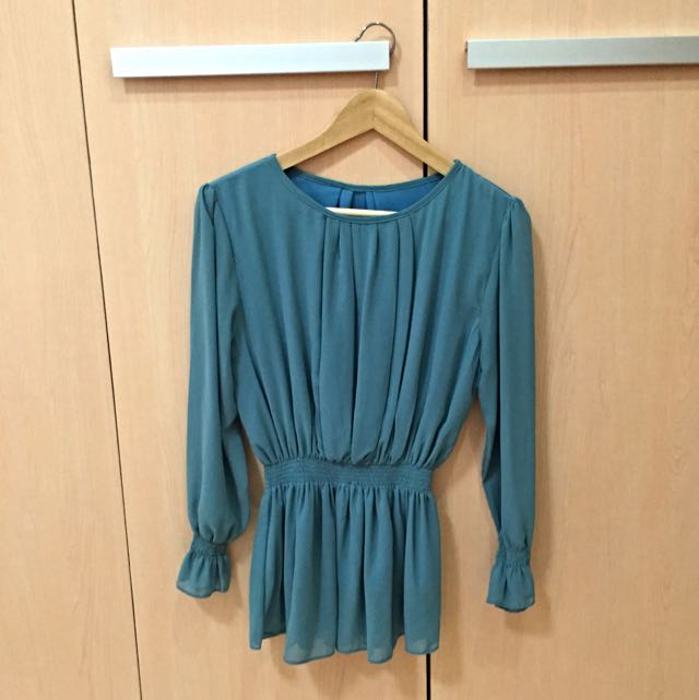 Mint Office Blouse