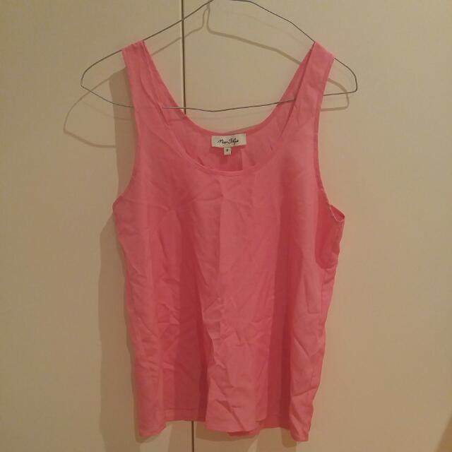 Miss Shop Pink Tank Size 8