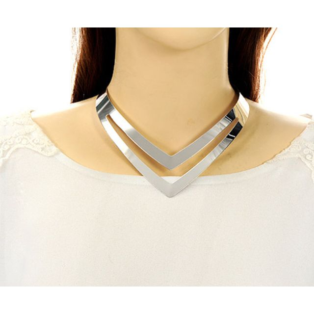 (NEW)Triangle Shape Necklace