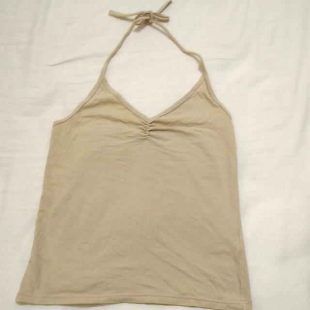 OZOC 褐色小背心 綁帶