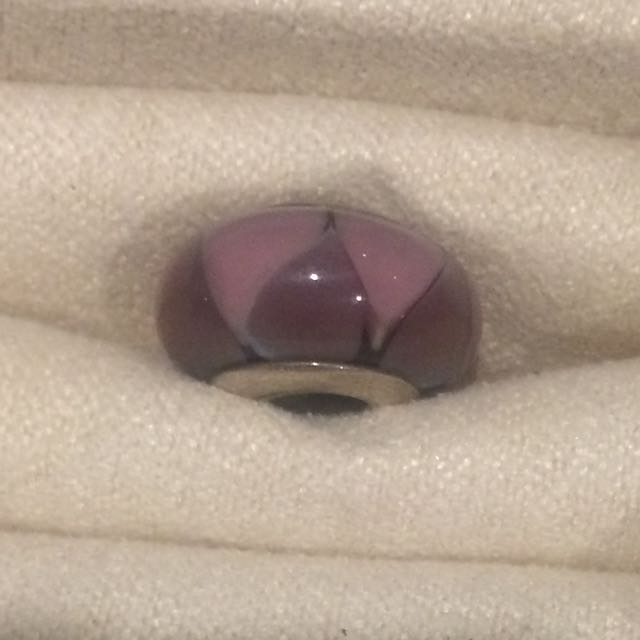 Pandora Charm - Purple Glass