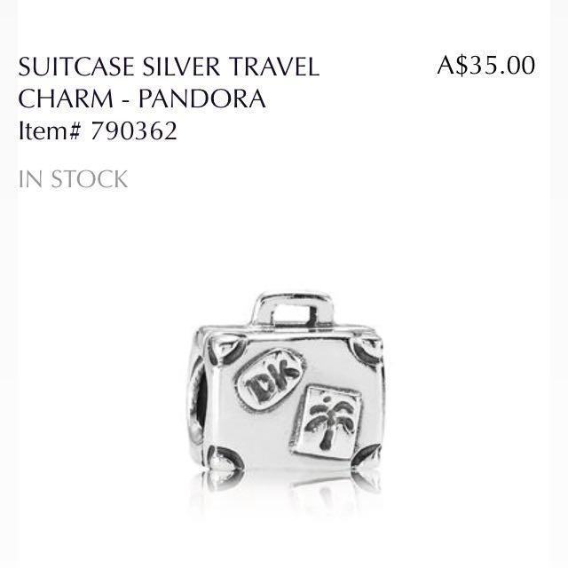 Pandora Charm - Suitcase