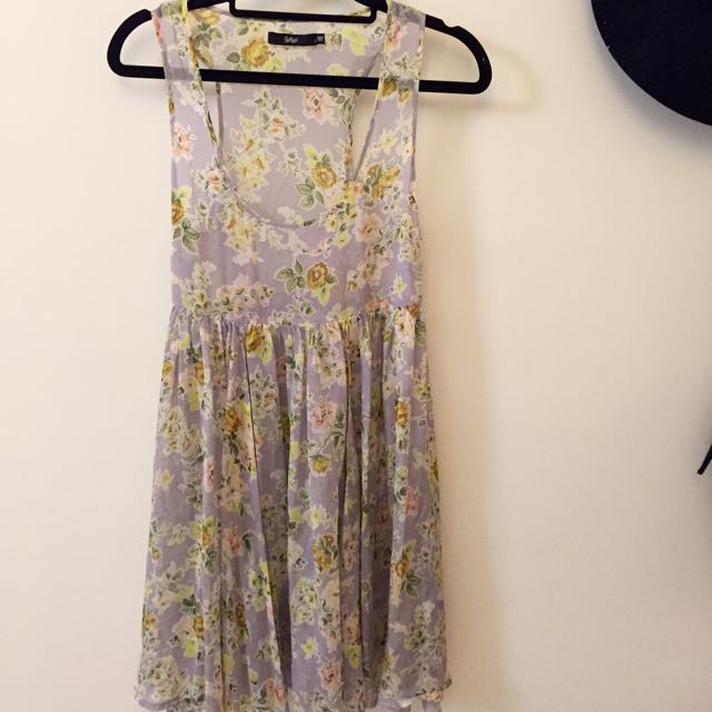 Sportsgirl Sheer Floral Dress