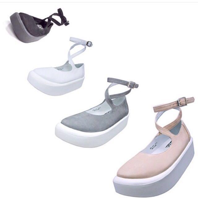 正品Tokyo Bopper / Bopper871 白皮芭蕾舞鞋