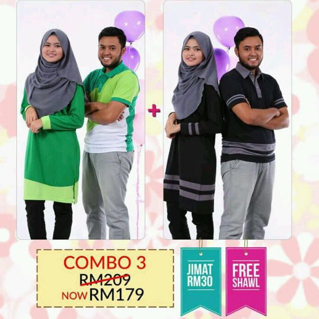 d8d00fd8e3f Tshirt Couple Muslimah, Fesyen Muslimah di Carousell
