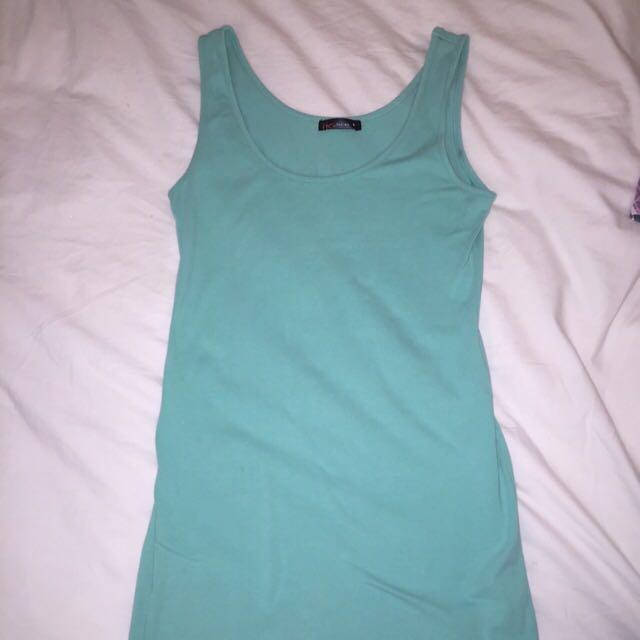 Turquoise Singlet Dress