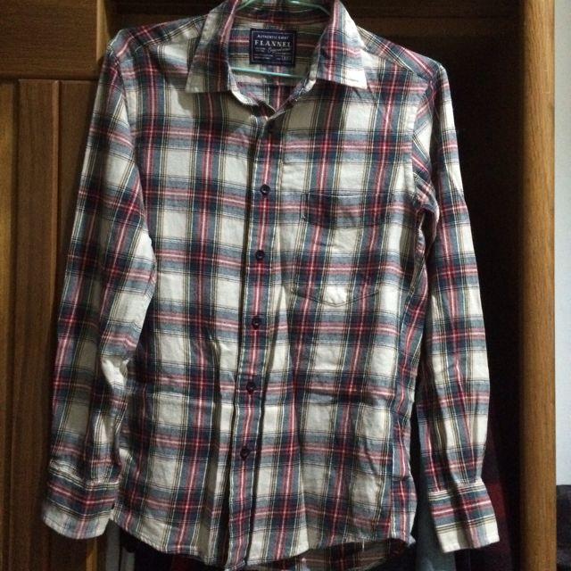 Uniqlo 法蘭絨格紋襯衫