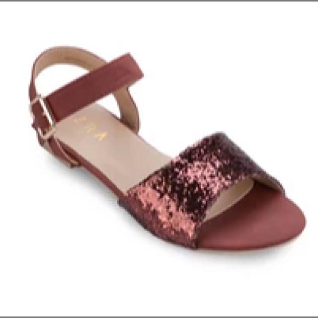 Zalora Glitter Sandals Flats