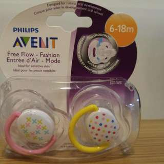 Philips Avent Pacifiers (Free Flow - Fashion)
