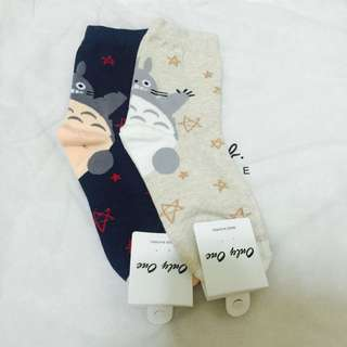 龍貓襪襪兩雙