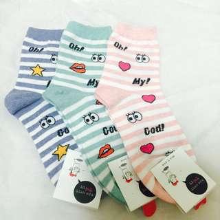滿版襪襪三雙