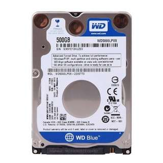 Western Digital WD Blue 500GB Mobile Hard Disk Drive - 5400 RPM SATA 6 Gb/s 7.0 MM 2.5 Inch - WD5000LPVX