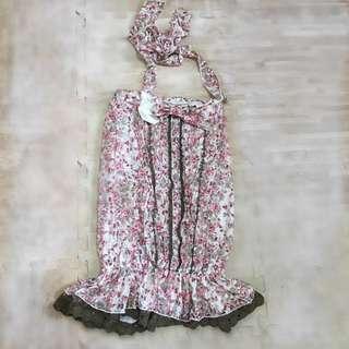 展望會蝴蝶結綁帶連身裙