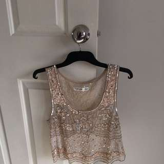 Forever New Sequin Top Size 10
