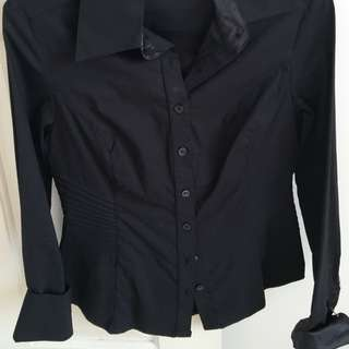 Tailored Blk Shirt Size 8