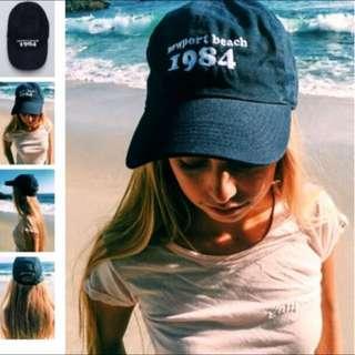 [保留]Brandy Melville Newpartbeach1984 Cap 藍色鴨舌帽