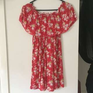 Red Flower Dress,
