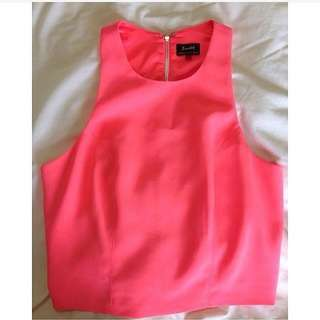 Bardot Pink Top