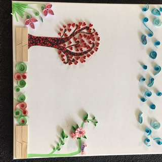 Hand Made Quilled Wall Art