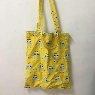 黃色帆布袋