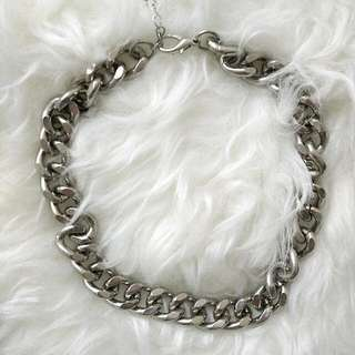 Silver Metal Chunky Choker Necklace [Hot Item]