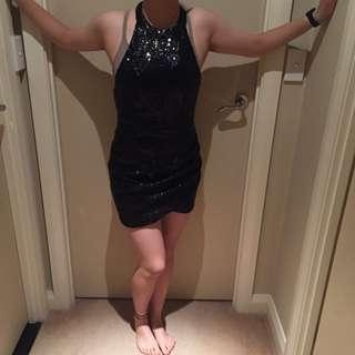 """Loving things"" Mini Sequin Dress Size 8"