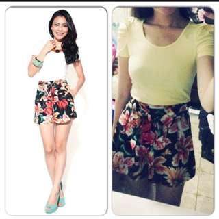 Love Bonito LB Floral Tie Front Shorts