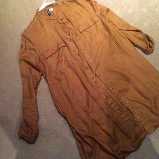 Camel H&M Shirt Dress - Size 12
