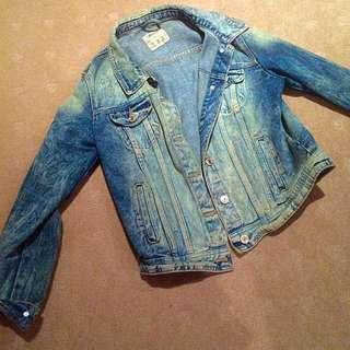 Acid Wash Denim Jacket - Size 12