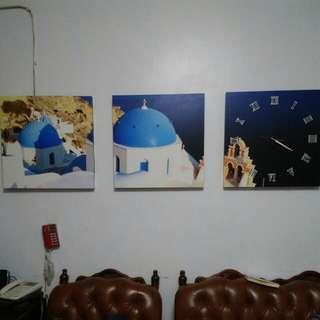 壁畫希臘風時鐘