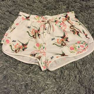 White Oriental Shorts