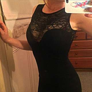 Lace Low Back ASOS Tight Dress