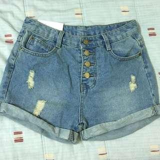 (全新)💕反折牛仔短褲 牛仔褲