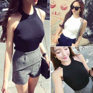 Halter Knitted Tank Top