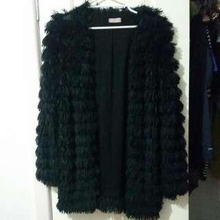 Paint It Red Faux Fur Coat - Medium