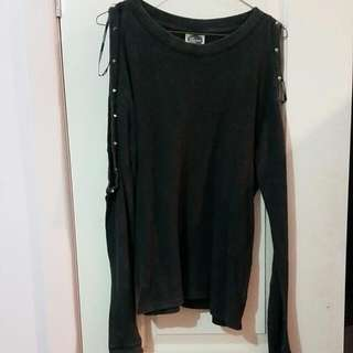 All About Eve Studded Cutout Shoulder Size 8