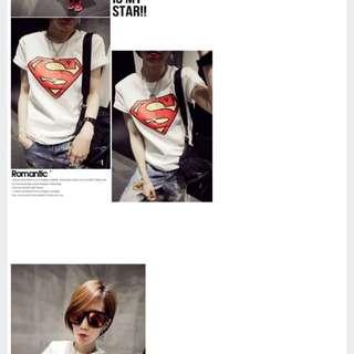 superman Tshirt In White